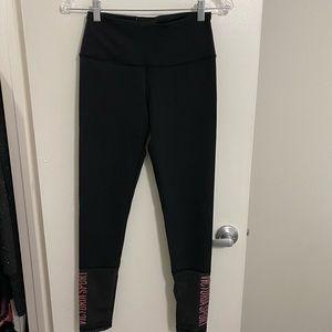 Victoria secret sport leggings with mesh details